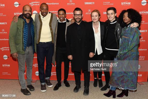Actors Jeffrey Wright Dorian Missick and Kelvin Harrison Jr and director Anthony Mandler and actors Jennifer Ehle Liam Obergfoll and Lovie Simone...