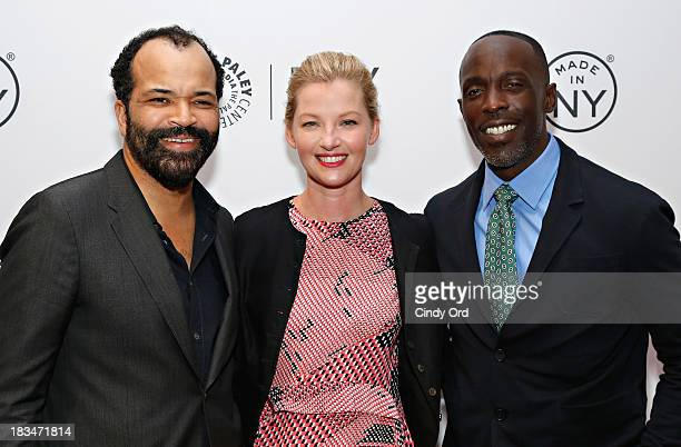 Actors Jeffrey Wright Gretchen Mol and Michael Kenneth Williams attend the 'Boardwalk Empire' panel during 2013 PaleyFest Made In New York at The...