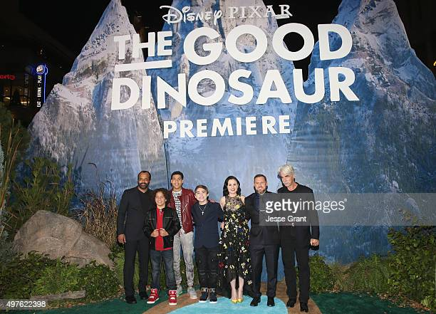 Actors Jeffrey Wright Jack Bright Marcus Scribner Raymond Ochoa Anna Paquin AJ Buckley and Sam Elliott attend the World Premiere Of DisneyPixar's THE...