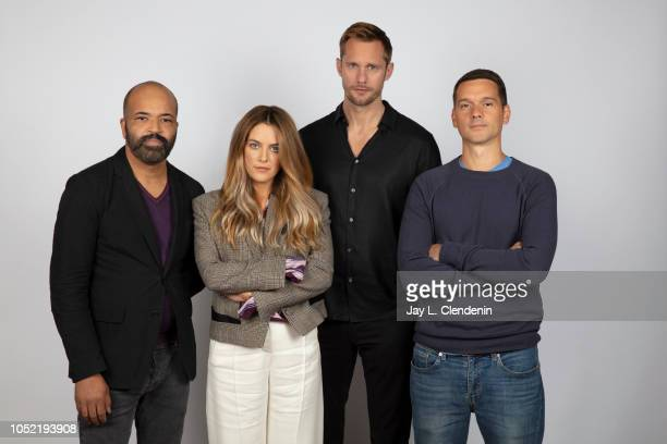 Actors Jeffrey Wright Riley Keough Alexander Skarsgard and director Jeremy Saulnier from 'Hold The Dark' are photographed for Los Angeles Times on...