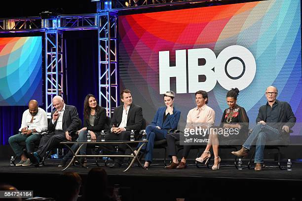 Actors Jeffrey Wright Sir Anthony Hopkins Executive producer/writer Lisa Joy Director/executive producer/writer Jonathan Nolan actors Evan Rachel...