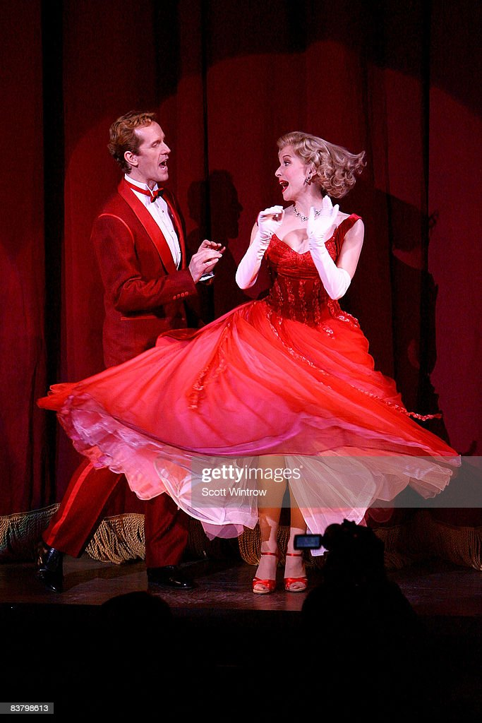actors jeffry denman and meredith patterson on stage during the curtain call of the opening night - Actors In White Christmas