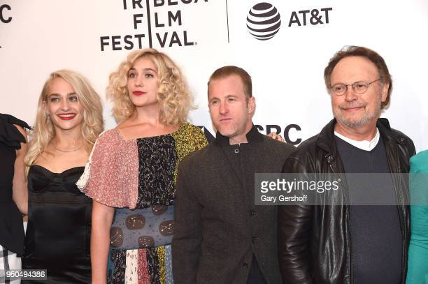 Actors Jemima Kirke Lola Kirke Scott Caan and Billy Crystal attend the screening of 'Untogether' during the 2018 Tribeca Film Festival at SVA Theater...