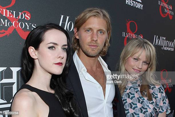 Actors Jena Malone Matt Barr and Lindsay Pulsipher arrive at The Hollywood Reporter The History Channel Screening Of Hatfields McCoys at Milk Studios...