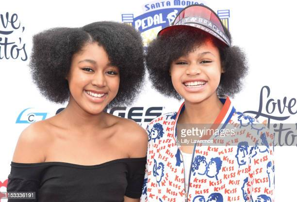 Actors Jenasha Roy and Briana Roy attend Pedal On The Pier at Santa Monica Pier on June 02 2019 in Santa Monica California