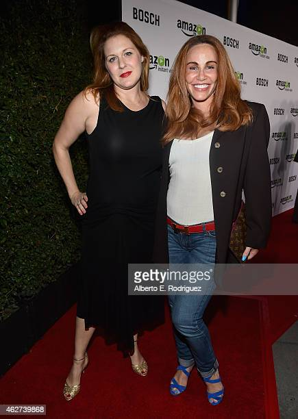 Actors Jenica Bergere and Tawny Kitaen arrive for the red carpet premiere screening for Amazon's first original drama series 'Bosch' at The Dome at...