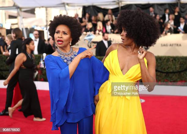 Actors Jenifer Lewis and Sydelle Noel attend the 24th Annual Screen Actors Guild Awards at The Shrine Auditorium on January 21 2018 in Los Angeles...