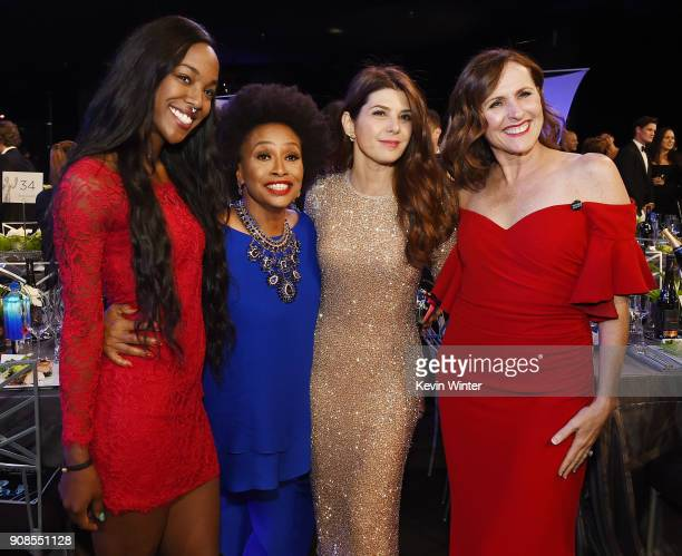 Actors Jenifer Lewis Marisa Tomei and Molly Shannon attend the 24th Annual Screen Actors Guild Awards at The Shrine Auditorium on January 21 2018 in...