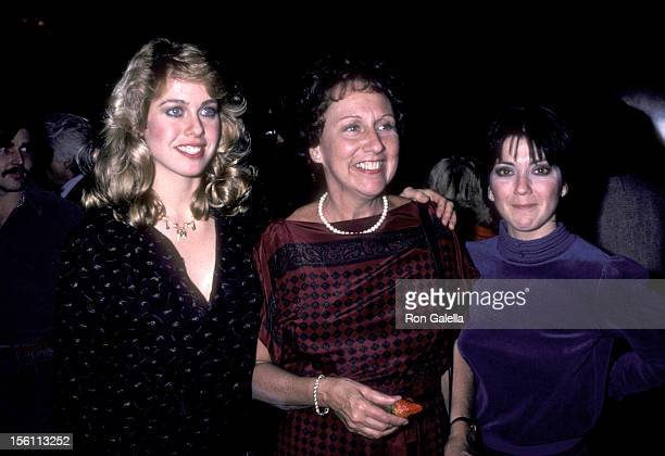 Actors Jenilee Harrison Jean Stapleton and Joyce DeWitt attend the 'Angel Dusted' Screening on February 13 1981 at DGA Theatre in West Hollywood...