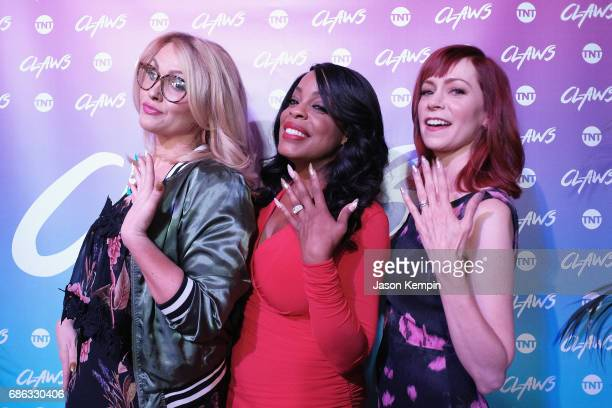 Actors Jenn Lyon Niecy Nash and Carrie Preston attend the TNT Supper Club Claws brunch event during TNT at Vulture Festival at West Edge on May 21...
