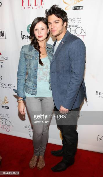 Actors Jenn Proske and Chris Riggi attend bobi/Boy Meets Girl/Caravan Spring 2011 at Style360 on September 14 2010 in New York City