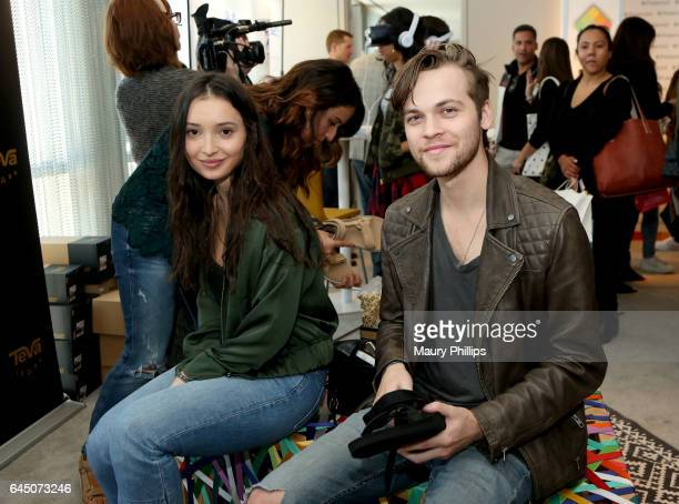 Actors Jenna Berman and Alexander Calvert attend Kari Feinstein's PreOscar Style Lounge at the Andaz Hotel on February 24 2017 in Los Angeles...