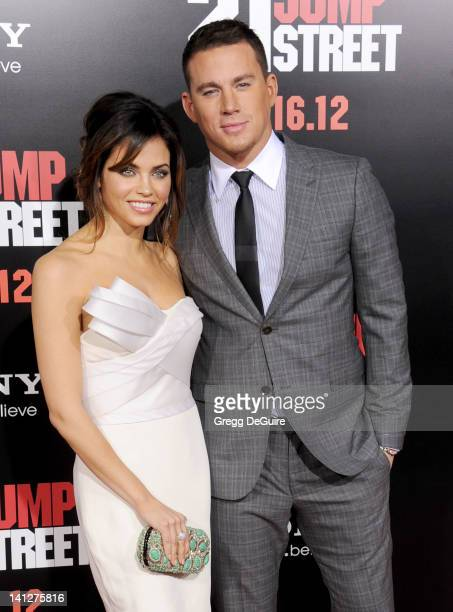 Actors Jenna Dewan and Channing Tatum arrive at '21 Jump Street' Los Angeles Premiere at Grauman's Chinese Theatre on March 13 2012 in Hollywood...