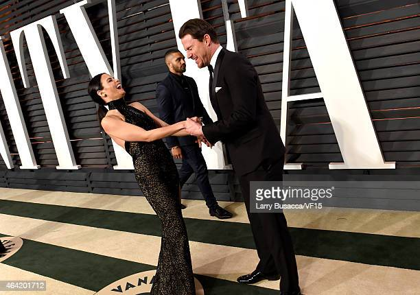 Actors Jenna Dewan and Channing Tatum attend the 2015 Vanity Fair Oscar Party hosted by Graydon Carter at the Wallis Annenberg Center for the...