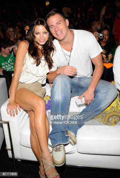LOS ANGELES CA AUGUST 03 Actors Jenna Dewan and Channing Tatum during the 2008 Teen Choice Awards at Gibson Amphitheater on August 3 2008 in Los...