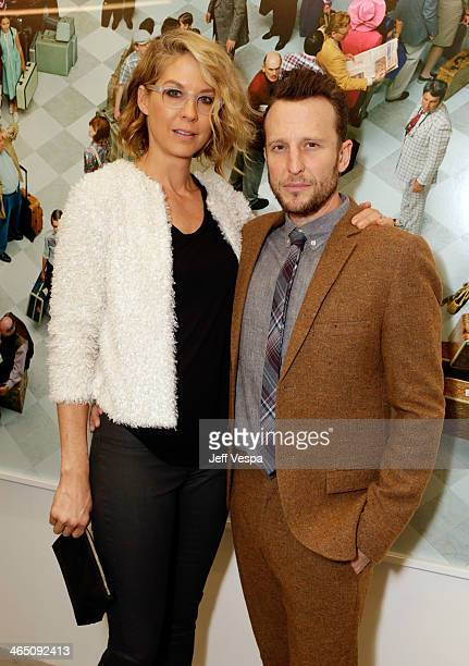 Actors Jenna Elfman and Bodhi Elfman attend Alex Prager Face In The Crowd Exhibition Opening Night Reception at MB Gallery on January 25 2014 in Los...