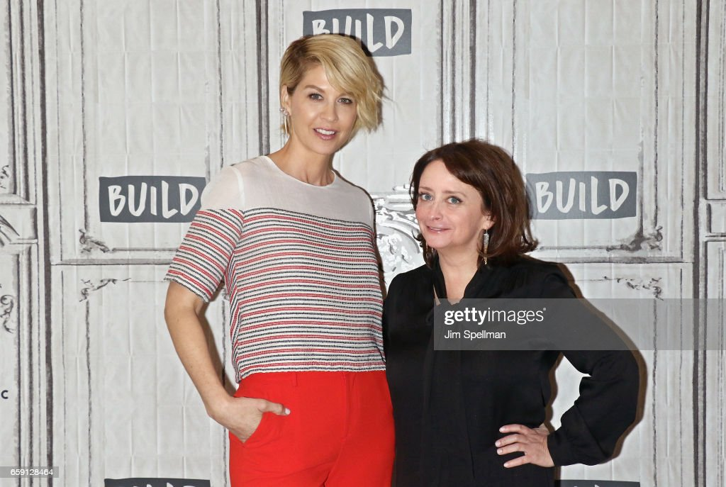 Actors Jenna Elfman (L) and Rachel Dratch attend the Build series to discuss 'Imaginary Mary' at Build Studio on March 28, 2017 in New York City.