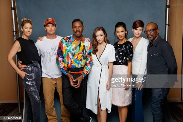 Actors Jenna Elfman Garret Dillahunt Colman Domingo Alycia DebnamCarey Danay Garcia Maggie Grace and Lennie James from 'Fear the Walking Dead' are...