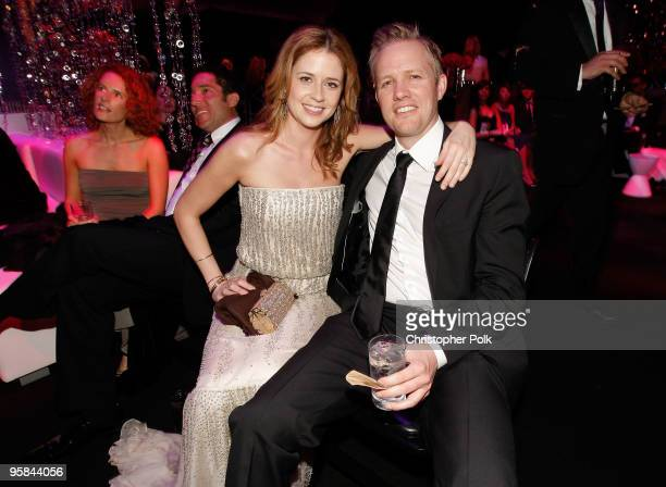 Actors Jenna Fischer and Lee Kirk attend the NBC Universal and Focus Features' Golden Globes after party sponsored by Cartier at Beverly Hilton Hotel...
