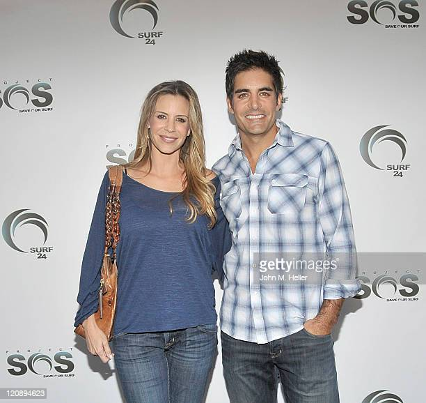 Actors Jenna Gering and Galen Gering attend actress Tanna Frederick's birthday party at Fred Segal's on August 11 2011 in Santa Monica California