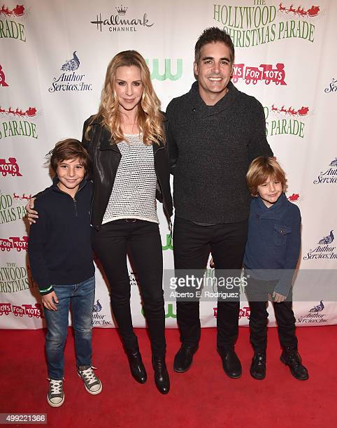 Actors Jenna Gering and Galen Gering with family attend 2015 Hollywood Christmas Parade on November 29 2015 in Hollywood California
