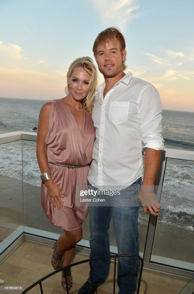 Actors Jennie Garth and Trevor Donovan attend Lucky Brand Celebration of California Culture and Style on September 8, 2012 in Malibu, California.