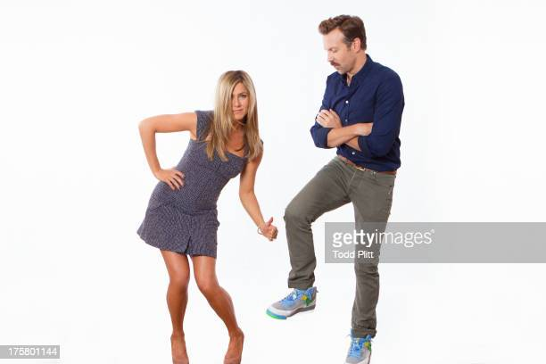 Actors Jennifer Aniston and Jason Sudeikis are photographed for USA Today on July 27 2013 in New York City PUBLISHED IMAGE
