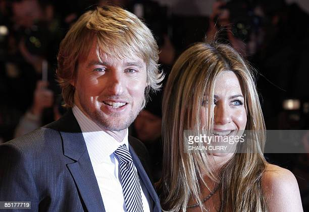 US actors Jennifer Aniston and Owen Wilson arrive for the UK premiere of the film 'Marley and Me' on March 2 2009 in central London AFP PHOTO/Shaun...