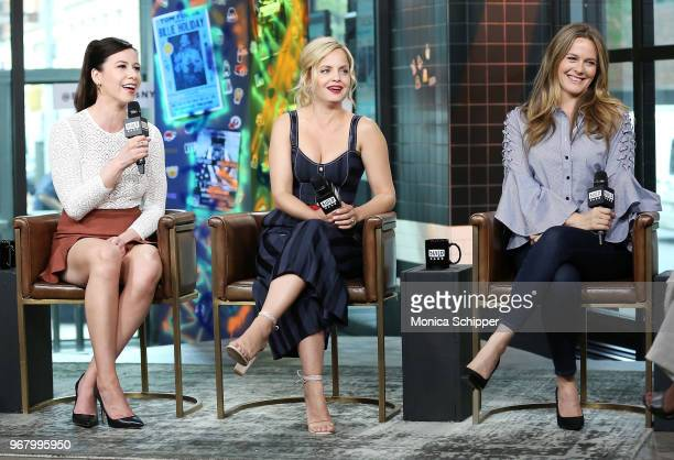 Actors Jennifer Bartels Mena Suvari and Alicia Silverstone visit Build Studio to discuss the television show American Woman on June 5 2018 in New...