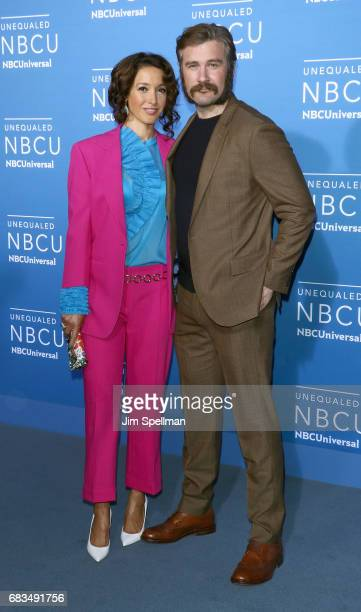 Actors Jennifer Beals and Clive Standen attend the 2017 NBCUniversal Upfront at Radio City Music Hall on May 15 2017 in New York City