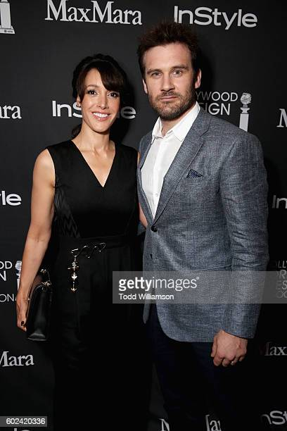 Actors Jennifer Beals and Clive Standen attend the Hollywood Foreign Press Association and InStyle's annual celebration of the Toronto International...