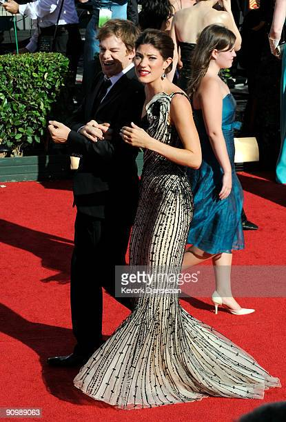 Actors Jennifer Carpenter and Michael C Hall arrive at the 61st Primetime Emmy Awards held at the Nokia Theatre on September 20 2009 in Los Angeles...