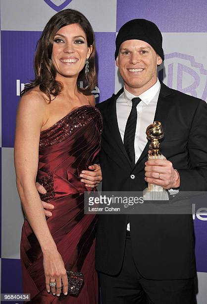Actors Jennifer Carpenter and Michael C Hall attend the InStyle and Warner Bros 67th Annual Golden Globes post party held at the Oasis Courtyard at...