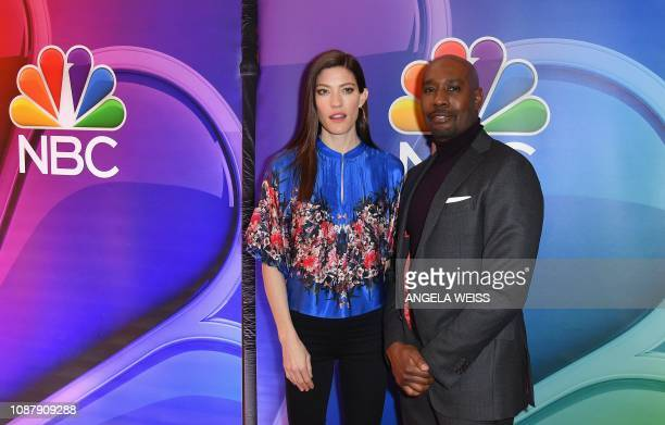 Actors Jennifer Carpenter and Morris Chestnut attend the NBC midseason press junket at The Four Seasons in New York on January 24 2019