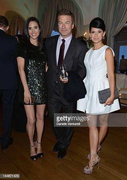 Actors Jennifer Connelly Alec Baldwin and Hilaria Thomas arrive at Vanity Fair and Gucci Party at Hotel Du Cap during 65th Annual Cannes Film...