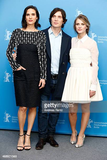 Actors Jennifer Connelly Cillian Murphy and Melanie Laurent attend the 'Aloft' photocall during 64th Berlinale International Film Festival at Grand...