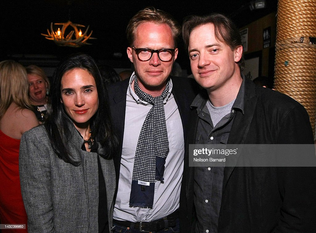 Actors Jennifer Connelly, Paul Bettany and Brendan Fraser attend the Tribeca Film Festival 2012 After-Party for 'Whole Lotta Sole' at Anchor Bar on April 22, 2012 in New York City.