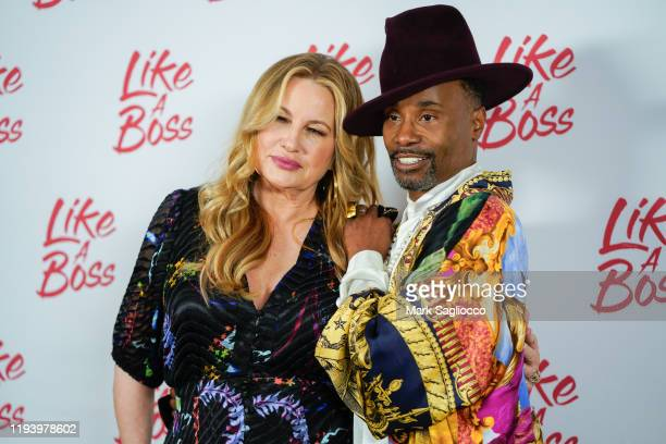 Actors Jennifer Coolidge and Billy Porter attend the Like A Boss Photo Call at the Whitby Hotel on December 14 2019 in New York City