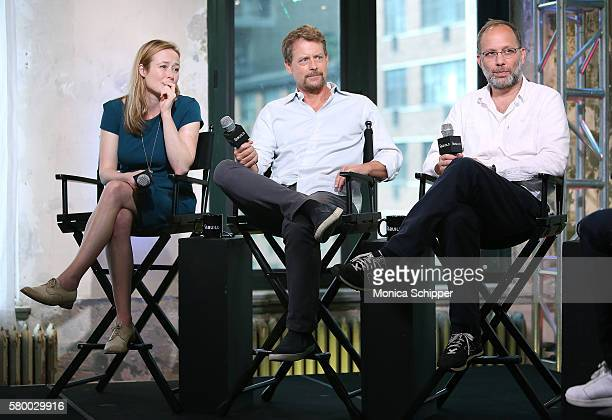 Actors Jennifer Ehle and Greg Kinnear and filmmaker Ira Sachs speak at AOL Build Presents Ira Sachs, Greg Kinnear And Jennifer Ehle Discussing Their...