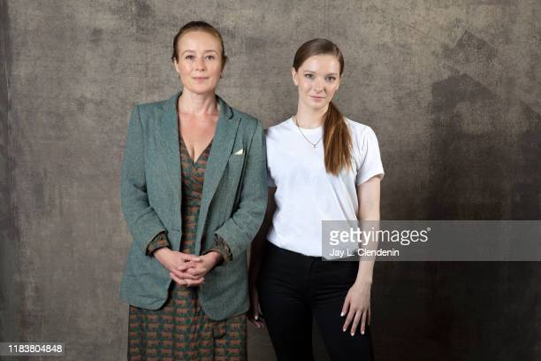 Actors Jennifer Ehle and Morfydd Clark from 'Saint Maud' are photographed for Los Angeles Times on September 9, 2019 at the Toronto International...