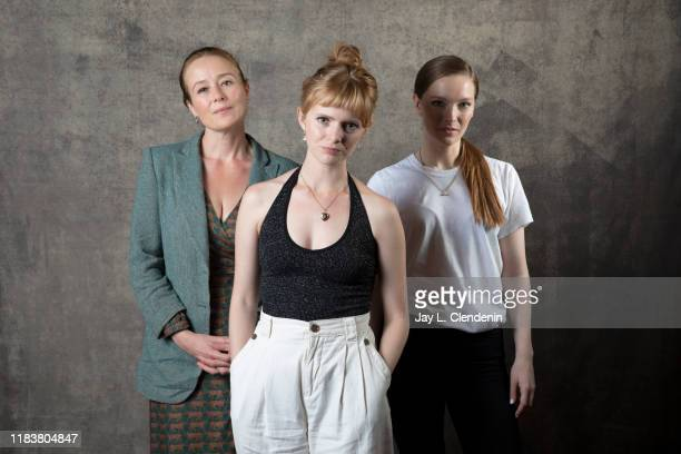 Actors Jennifer Ehle, director Rose Glass and Morfydd Clark from 'Saint Maud' are photographed for Los Angeles Times on September 9, 2019 at the...