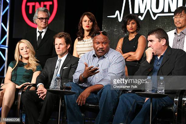 Actors Jennifer Finnigan Jamie Bamber Ving Rhames Alfred Molina Executive Producer Bill D'Elia Actors Emily Swallow Sarayu Blue and Keong Sim of...