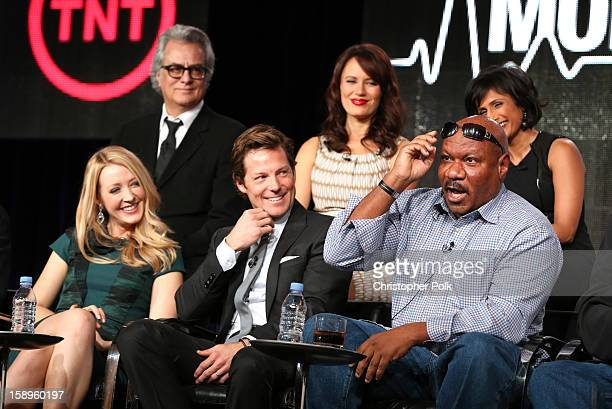 Actors Jennifer Finnigan Jamie Bamber Ving Rhames Executive Producer Bill D'Elia Actors Emily Swallow and Sarayu Blue of Monday Mornings speak...