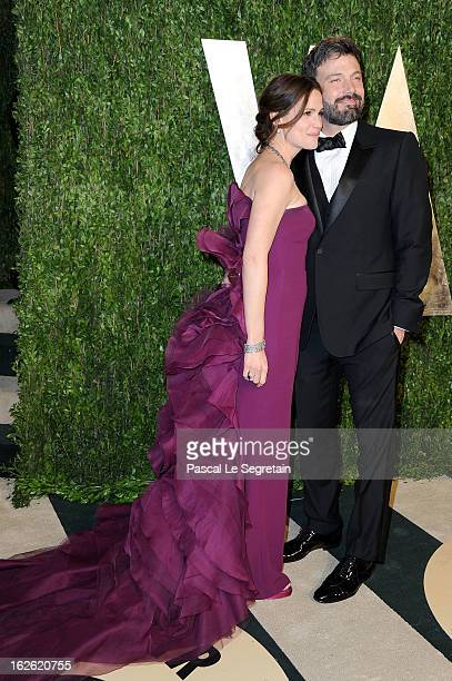 Actors Jennifer Garner and Ben Affleck arrive at the 2013 Vanity Fair Oscar Party hosted by Graydon Carter at Sunset Tower on February 24 2013 in...
