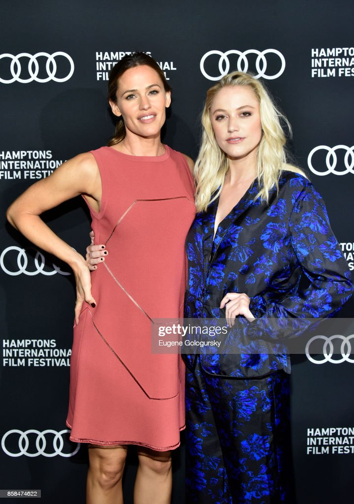 Actors Jennifer Garner and Maika Monroe attend the red carpet for 'The Tribes of Palos Verdes' at UA2 East Hampton Cinema 6 during Hamptons International Film Festival 2017 - Day Two on October 6, 2017 in East Hampton, New York.