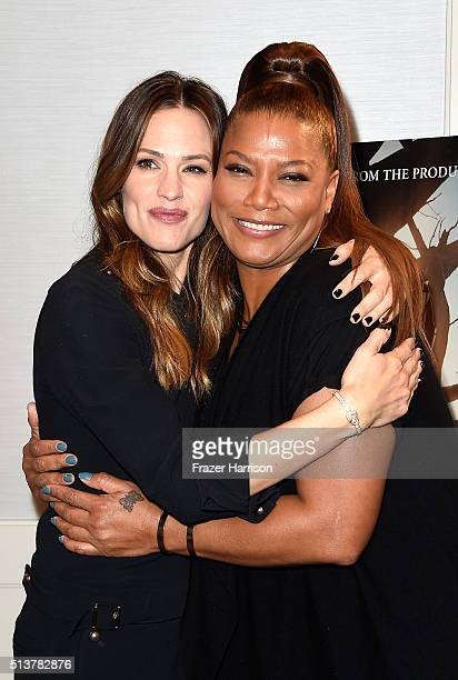 Actors Jennifer Garner and Queen Latifah attend Sony Pictures Releasing's Miracles From Heaven Photo Call at The London Hotel on March 4 2016 in West...