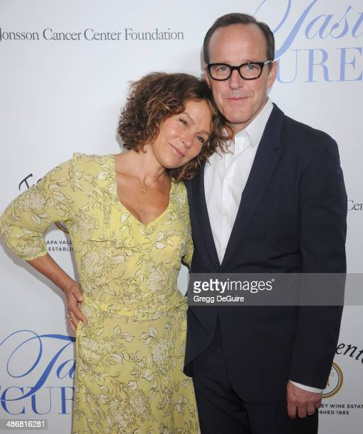 Actors Jennifer Grey and Clark Gregg arrive at the 19th Annual Jonsson Cancer Center Foundation's Taste For A Cure at Regent Beverly Wilshire Hotel...