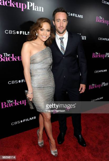 Actors Jennifer Lopez and Alex O'Loughlin arrive at the premiere of CBS Films' The Backup Plan held at the Regency Village Theatre on April 21 2010...