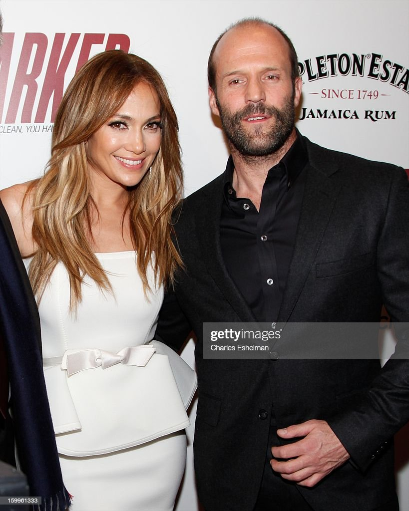 Actors Jennifer Lopez and Jason Statham attends the FilmDistrict with The Cinema Society, L'Oreal Paris & Appleton Estate screening of 'Parker' at The Museum of Modern Art on January 23, 2013 in New York City.