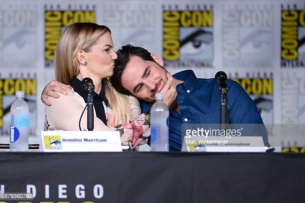 Actors Jennifer Morrison and Colin O'Donoghue attend the 'Once Upon A Time' panel during ComicCon International 2016 at San Diego Convention Center...